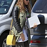 Jessica Alba makes her way to Jessica Simpson's baby shower.