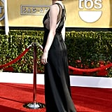 Michelle Dockery wore a revealing black gown.