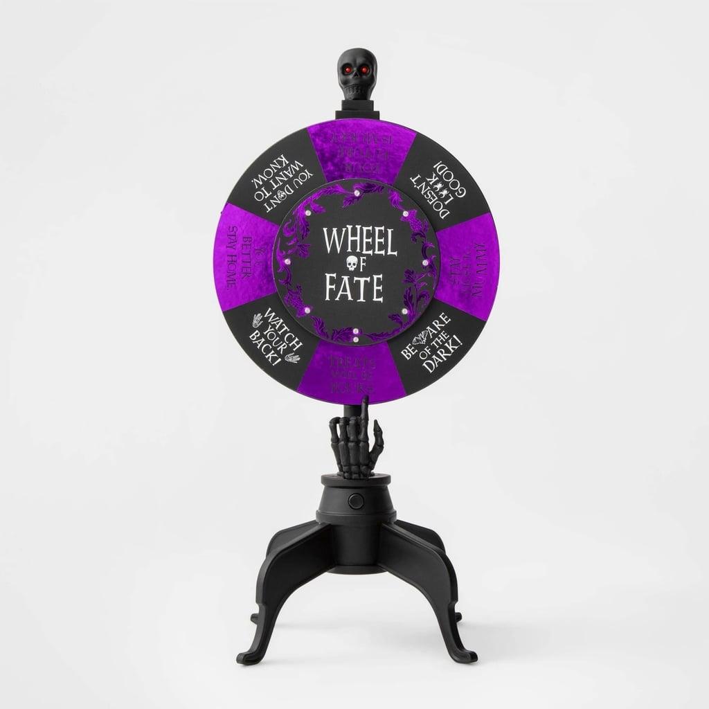 Animated Wheel of Fate Halloween Decor