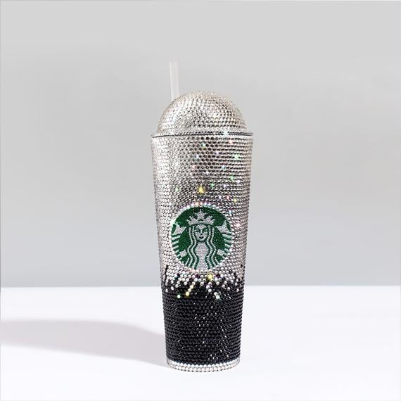 You Can Buy Jennifer Lopez S Bedazzled Starbucks Cup On Etsy Popsugar Food