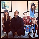 Jaleel White stopped by the Fox studio to promote his new show Total Blackout and made some (cardboard) friends. Source: Instagram user jaleelwhite