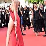 Bella Hadid Lifted the Barely There Material on Her Alexandre Vauthier Dress