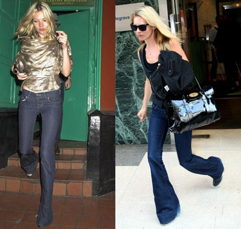 Skinny Flared Jeans Trend: Kate Moss