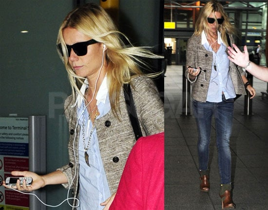 Pictures of Gwyneth Paltrow at Heathrow Airport