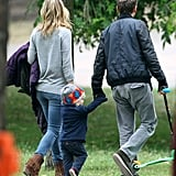 Kate Hudson on Set in London With James Franco