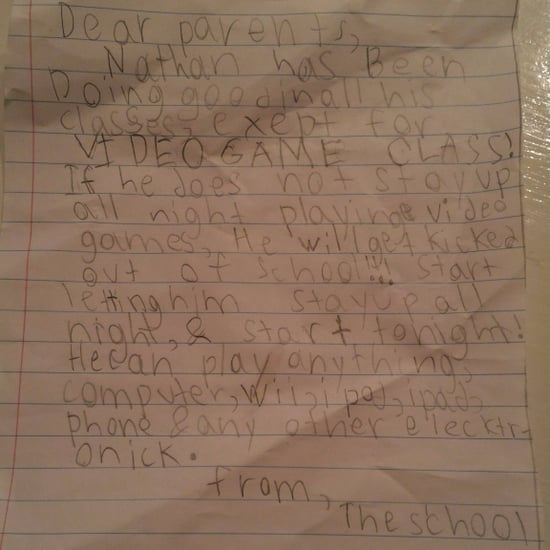 Boy Forges Note From School to Play More Video Games