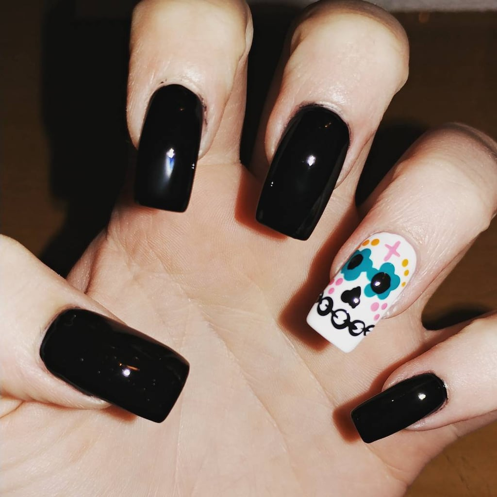 Sugar Skull Nail Art Ideas Popsugar Latina