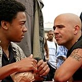 "Francis Capra (right) as Eli ""Weevil"" Navarro"