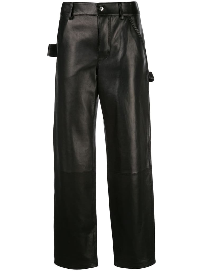 Bottega Veneta Straight Leather Trousers