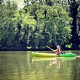 Test your balance and agility by kayaking down the French Broad River.