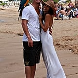 Channing and Jenna celebrated their September 2008 engagement with a photo on the beach in Maui, HI.