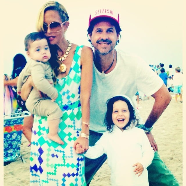 Rachel Zoe and Rodger Berman took a family photo with Skyler and Kaius on the beach in the Hamptons. Source: Instagram user rachelzoe