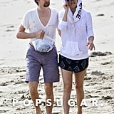 Kate Hudson and Matthew Bellamy Kissing on the Beach