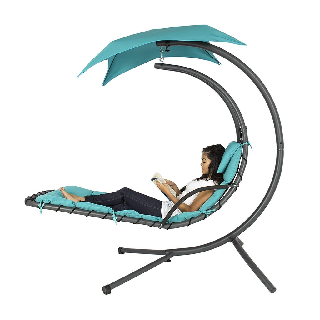 Best Choice Products Outdoor Hanging Chaise Lounge Chair Swing