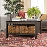 Traditional Wood Storage Coffee Table