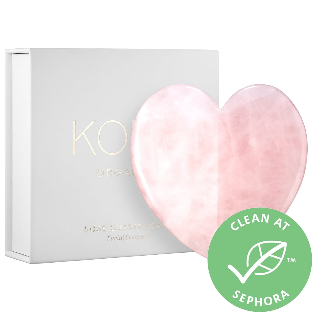 Kora Organics Rose Quartz Heart Facial Gua Sha