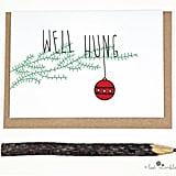 """""""Well Hung"""" Christmas Card"""