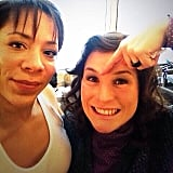 Leyva and Stone smile for the camera. Source: Instagram user oitnb