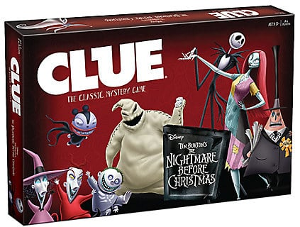 The Nightmare Before Christmas Clue Game | Disneyland's ...