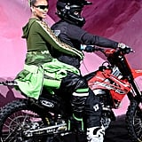 For Her Bow, Rihanna Came Out on a Dirt Bike