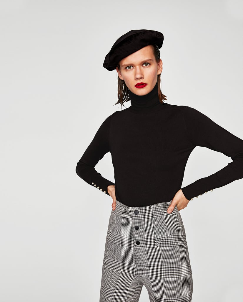Zara Turtleneck With Pearls