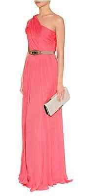 Matthew Williamson Coral One-Shoulder Silk Gown