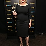 Patricia Arquette posed with her Best Supporting Actress award for Boyhood.