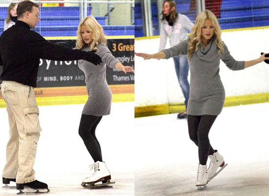 Photos of Melinda Messenger in Ice Skating Training for Dancing On Ice