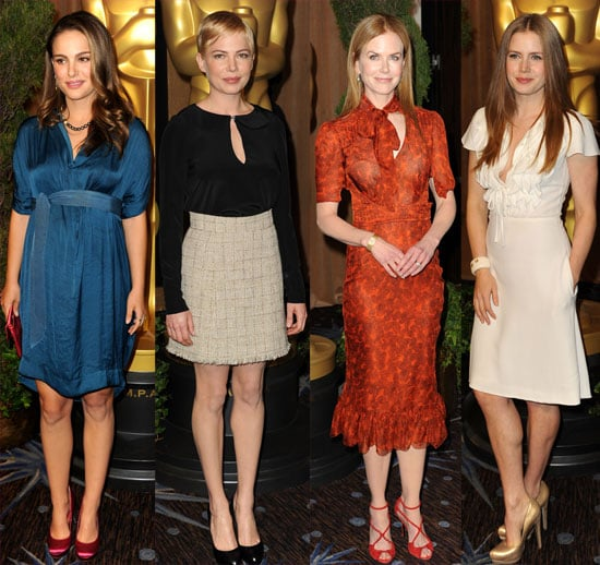 Pictures of Natalie Portman, Michelle Williams, Nicole Kidman, Amy Adams, and More at the Academy Awards Nominees Luncheon 2011-02-07 15:35:00