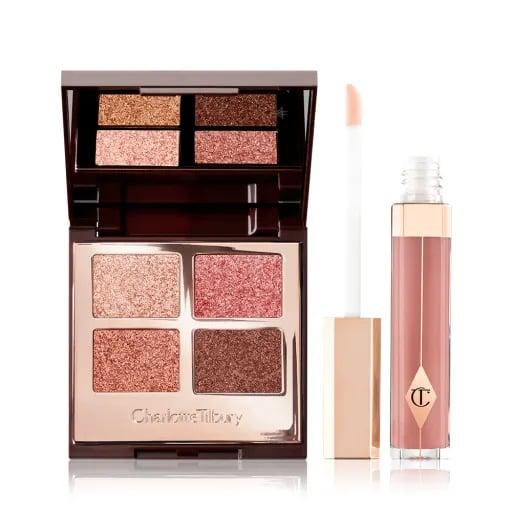 A Pop Of Pillow Talk Magic -  Eyeshadow Palette & Pink Lip Gloss