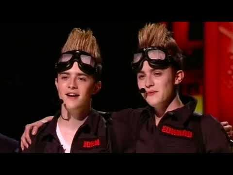 Video of The X Factor Twins John and Edward Grimes Ghostbusters Performance