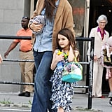 Katie Holmes and Suri Cruise left Chelsea Piers in NYC Friday.