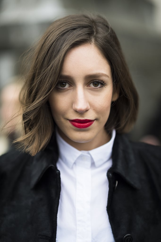 If this woman's lovely, texturized lob isn't enough to get you on board with the style, we're not sure what is. Source: Le 21ème | Adam Katz Sinding