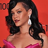 Rihanna posed on the red carpet of the Time 100 gala in NYC.