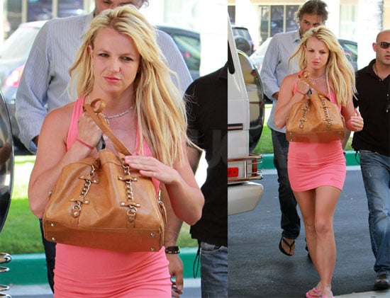 Pictures of Britney Spears In a Tight Pink Dress With Jason Trawick