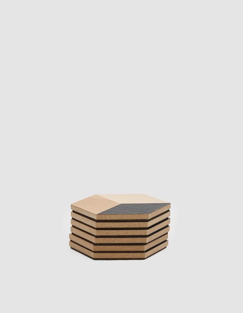 Areaware Table Tiles in Black/Beige