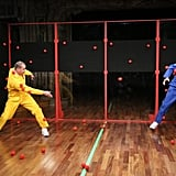 Channing Tatum and Jimmy Fallon played with sticky balls.