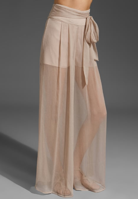 Sheer And Feminine This Wide Leg Silhouette Gives Off