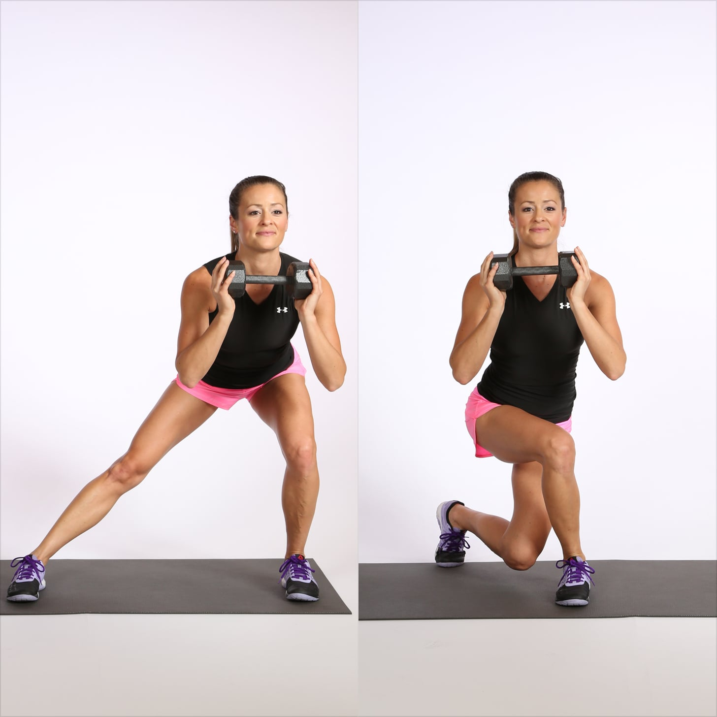 Circuit One: Side Lunge to Curtsy Squat