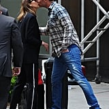 Cash gave Jessica a quick kiss in NYC in May 2014.
