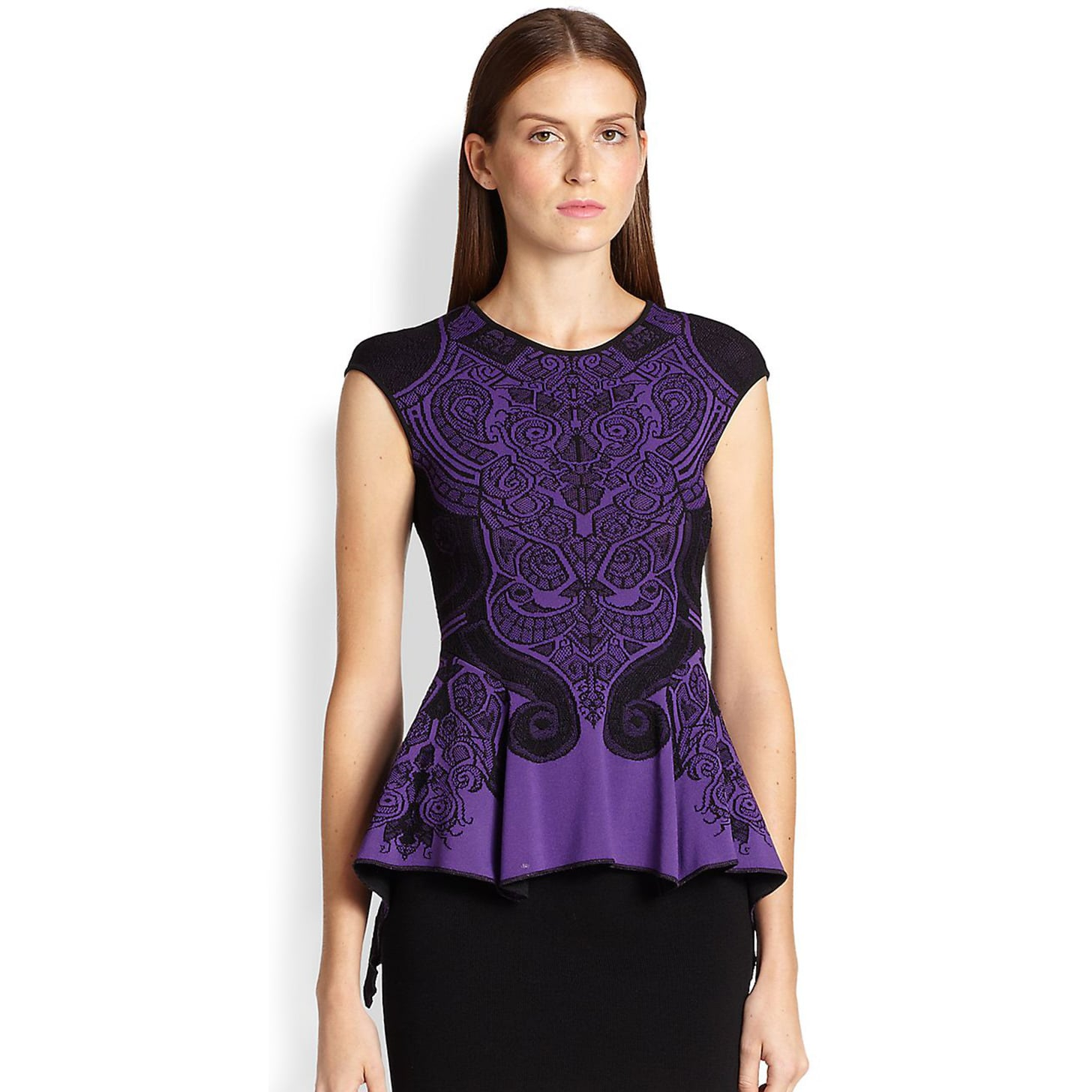RVN Baroque Lace Jacquard Top