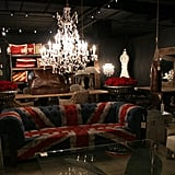 This Union Jack chesterfield, from Halo Furniture, was spotted at the High Point Furniture Market.  Source