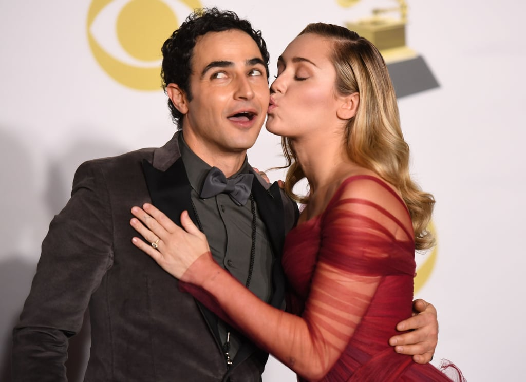 Pictured: Zac Posen and Miley Cyrus