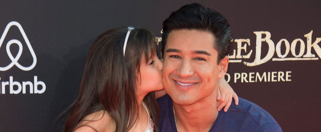 Mario Lopez and Daughter Gia at The Jungle Book Premiere