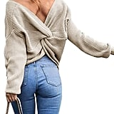Sexyshine Criss Cross Knitted Sweater