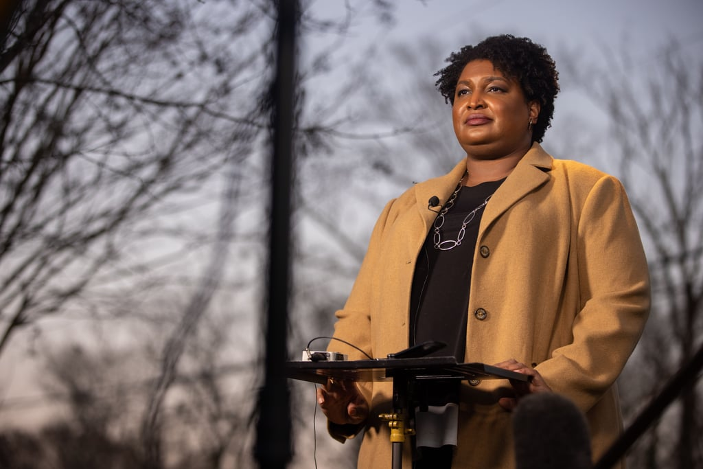 Stacey Abrams Wearing Plus-Size Brand Henning
