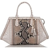 Brahmin Arden Embossed Leather Satchel