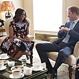When the former first lady visited the UK without her husband, not only was she invited to Kensington Palace for tea, but her daughters Malia and Sasha and, her mother Marian Robinson too.