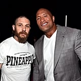"""With Dwayne """"The Rock"""" Johnson at CinemaCon in Las Vegas in 2015."""
