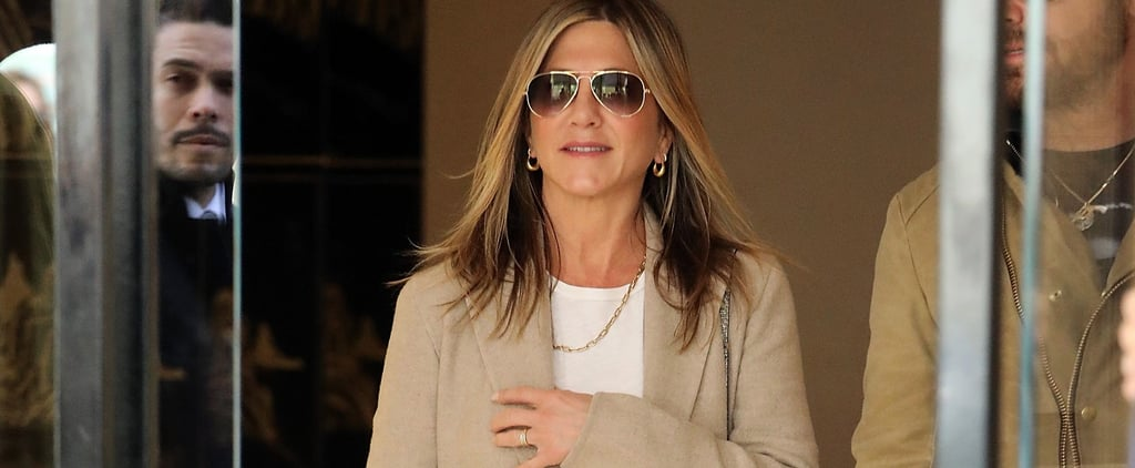 Jennifer Aniston Has a Luxurious Take on Track Pants You're Going to Want to Steal
